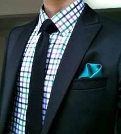 I follow way too many men's fashion boards. :p This is a great suit though--love the colors!