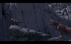 Dinosaur - Carnotaur bites Kron and throws him and got hit by rocks and Kron's death and died. What happened to Kron and Bruton? The Carnotaurs killed them. Animation Movies, Disney Animation, Disney Pixar, Disney Dinosaur, Dinosaur Movie, Disney Animated Movies, Little Poney, Jurassic Park World, Cold War