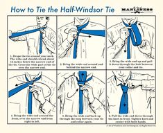 How to tie a half-windsor knot