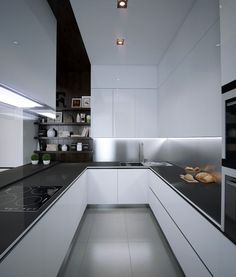 #kitchen #design cabinets, island, countertops,  kitchen accessories,  #modular handles, flooring, backsplash,  open plan, tiles, # cucine breakfast counter, built-in appliances #interior design