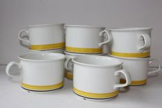 Arabia Finland Faenza, set of 4 cups
