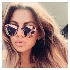 New Arrival 2016 Cat Eye Mirror Sunglasses Single-Bridge Women Or Lady CHROMIC UV400 Point Sun Glasses Oculos de sol Hot Sale