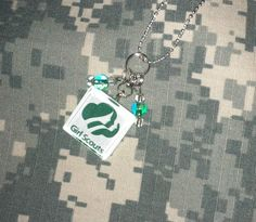 Girl Scout glass tile necklace    $11.50