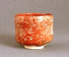 清寧軒焼 赤楽茶碗 銘「福禄寿」 文化遺産オンライン