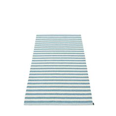 Pappelina   Duo 85 x 160 cm Misty Blue and Vanilla Rug