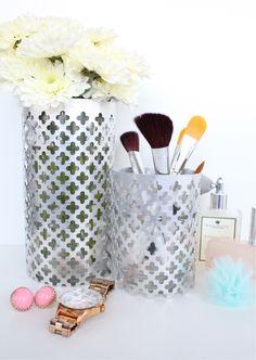 DIY // Aluminum Vase and Utensil Holders