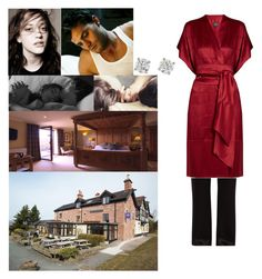 """(READ) Waking up at The Three Shoes Inn in the Peak District, Staffordshire"" by new-generation-1999 ❤ liked on Polyvore featuring Carine Gilson and bathroom"