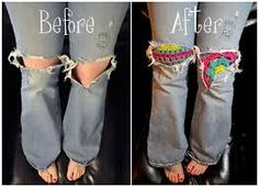 PATCHES ON JEANS - RE-MADE IN
