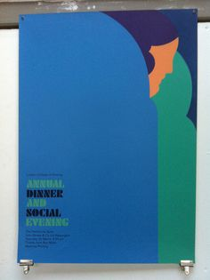 LCP Annual Dinner poster design, Tom Eckersley by Simon Goode, via Flickr