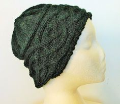 Hand Knitted Wool Hat 'Saxon' by Woolrush on Etsy