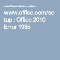 ms office 2010 installation error 1935