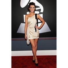Kate Beckinsale White Short One Shoulder Custom Party Dress 2012 Grammy Award Red Carpet