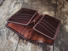 Cordovan Leather Wallet Pattern, Handmade Leather Wallet, Leather Card Wallet, Leather Bifold Wallet, Leather Belts, Leather Tooling, Leather Handbags, Men Wallet, Minimalist Leather Wallet