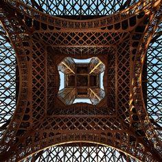under the Eiffel Tower!