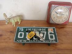 Vintage License Plate Tray