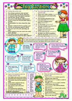 Question Tags English Sentences, English Vocabulary, English Grammar, Teaching English, English Language, Grammar Worksheets, Preschool Worksheets, Printable Worksheets, Tenses Grammar