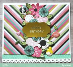 Create fun celebration cards for any age with these Birthday Cards by @reneezwirek using the #GirlSquad collection by @pebblesinc #sponsored