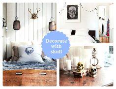 Czaszka jako element dekoracji w mieszkaniu{ Decorate with skull }