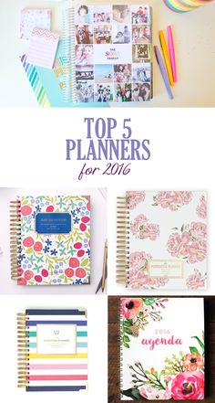 Top Planners for 2016, My Best 5 Recommendations | Our Holly Days