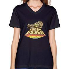 Tower Of Power, Black Models, Golden Color, Custom Shirts, V Neck T Shirt, Cap, T Shirts For Women, Logo, Mens Tops