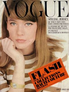 French Vogue-August 1963 by Fashion Covers Magazines, via Flickr Francoise Hardy