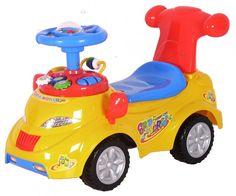 Pojazd odpychacz - samochód 9010072 żółty #D1 - Jeździki - Pojazdy dla dzieci