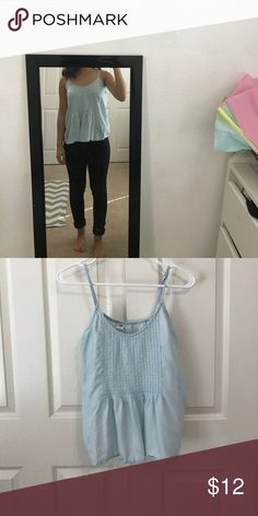 Blue Tank Top has adjustable straps Old Navy Tops Tank Tops