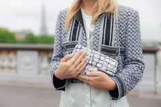 Chanel bag and jacket with &other stories top.