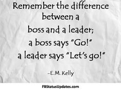 A clear distinction between Romney who wants to be boss and Obama who wants to be the leader. Seriously, who would want to work for Romney, or even sit across the table from him. He shows all the characteristics of being a life-long bully.