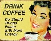 Humerous Coffee Sign from Bella Stichery via Etsy
