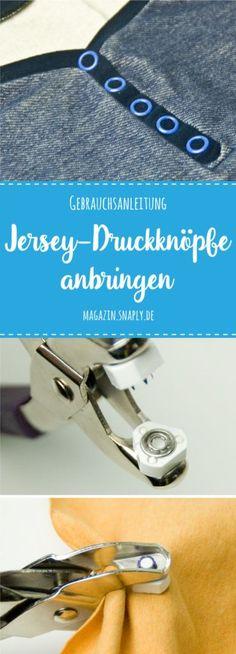 Gebrauchsanleitung: Jersey-Druckknöpfe mit Prym Vario-Zange anbringen