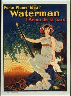 """Carregue a caneta Waterman """"ideal"""", a arma da paz — Visualizador — Biblioteca Digital Mundial"""