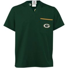 Green Bay Packers Scrub Top Size Medium Solid Green Color Visit our website for more: www.thesportszoneri.com