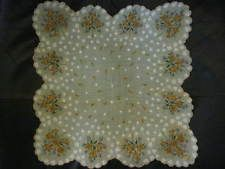 """Gorgeous Floral """"Made in The Philippines"""" Vintage Handkerchief. Pretty! OLD!***"""