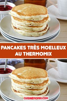 Very Soft Pancakes with Thermomix Here is the recipe for very soft pancakes with Thermomix, very light pancakes, easy and quick to prepare in less than 5 minutes, ideal for serving at breakfast or as a dessert. Thermomix Pancakes, Dessert Thermomix, Pancakes Easy, Clean Eating Dinner, Clean Eating Snacks, Crepes, Easy Summer Desserts, Salty Cake, Cupcakes