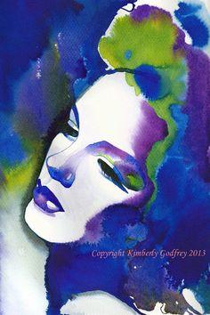 Judy Garland watercolor art print...............
