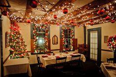 Holiday Decorations at 1785 Inn & Restaurant in North Conway, New Hampshire, courtesy Garrett Drapala.