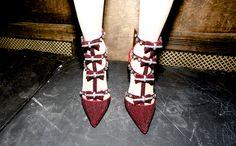 Crystal-covered heels #nyfw #aoFall14