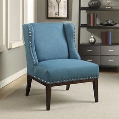 Kitts Fabric Wingback Accent Chair