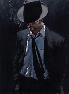 Man in Black Suit III, Fabian Perez