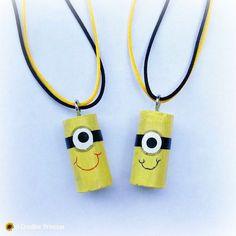 A Creative Princess: Wine Cork Minion Necklace