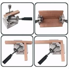 Woodworking Clamp Tool Triangle 90 Degree Fixture Perfect corner clamp, allows Two Wood Block ofDifferent Thicknesses to be joined at the 90 Degree Angle, which can clamp materials like a steel rod, metal tu Woodworking Clamps, Woodworking Projects, Diy Projects, Diy Tools, Hand Tools, Clamp Tool, Bois Diy, Steel Rod, Wood Blocks