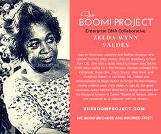 Zelda Wynn Valdes #History #BlackWomen #Entrepreneuship #Business #BabyBoomers #Inspiration