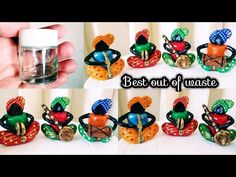 Acrylic Paint Bottles, Bottle Painting, Bottle Art, Diy Clay, Clay Crafts, Handmade Christmas Decorations, Diwali Decorations, Indian Arts And Crafts, Diy Crafts For Home Decor