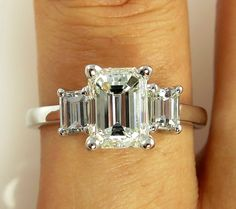 http://rubies.work/0521-sapphire-ring/ 925 Sterling Silver Claw Set Emerald Cut Cz Trilogy Ring