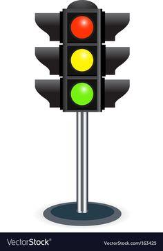 Traffic lights vector image on VectorStock Frozen Cupcake Toppers, Festa Hot Wheels, Cars Birthday Invitations, Kids Cartoon Characters, Classroom Calendar, Smoke Background, Car Themes, Retro Font, Construction Birthday