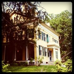 Emily Dickinson's house-- a perfect place for a recluse's wedding and reception!