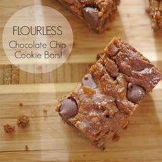 Treat yourself to a healthy indulgence! 🍪 These Flourless Chocolate Chip Cookie Bars will absolutely delight your taste buds! Make up a batch to share with friends, family or coworkers! They'll never know they're #TIUapproved 😉 @KarenaKatrina #TIUteam #chocolatechip #cookiebars #TIUNutritionPlan #glutenfree #vegan  TIUapproved,TIUteam,chocolatechip,cookiebars,TIUNutritionPlan,glutenfree,vegan Flourless Chocolate Chip Cookies, Chocolate Chip Cookie Bars, Healthy Desserts, Dessert Recipes, Healthy Recipes, Vegan Sweets, Healthy Cooking, Fall Recipes, Healthy Eating