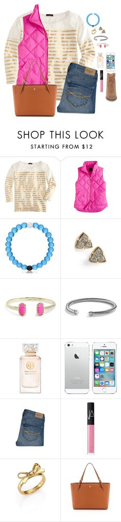 """""""Meet me!!// Gracie"""" by preppygirls07 ❤ liked on Polyvore featuring J.Crew, Kendra Scott, David Yurman, Tory Burch, Abercrombie & Fitch, NARS Cosmetics, Kate Spade, Steve Madden, women's clothing and women's fashion"""
