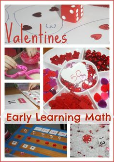 Valentines Early Learning Math Activities (from Little Bins for Little Hands)